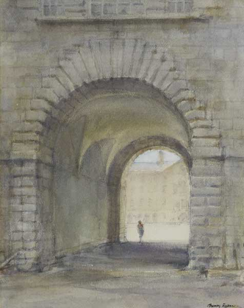 COLLINS BARRACKS, DUBLIN by Thomas Ryan PPRHA (b.1929) at Whyte's Auctions