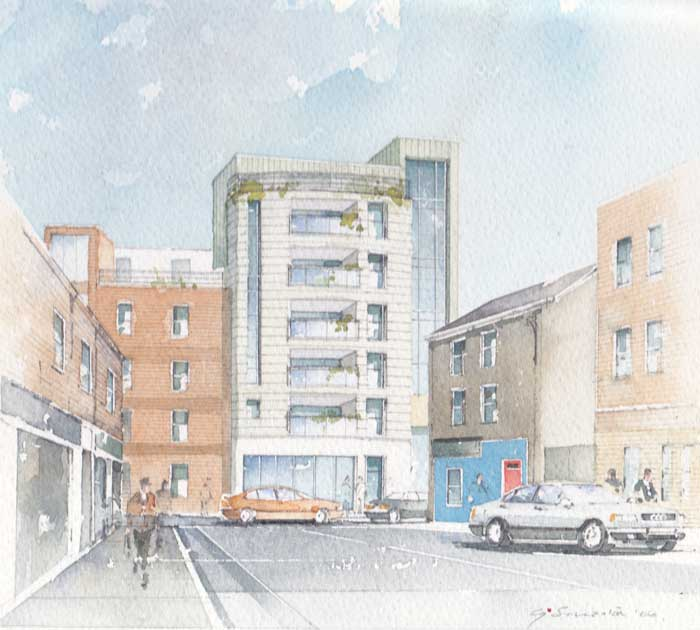 PORTFOLIO OF 8 ARCHITECTURAL DRAWINGS OF DUBLIN, 2006 by Godfrey Smeaton  at Whyte's Auctions