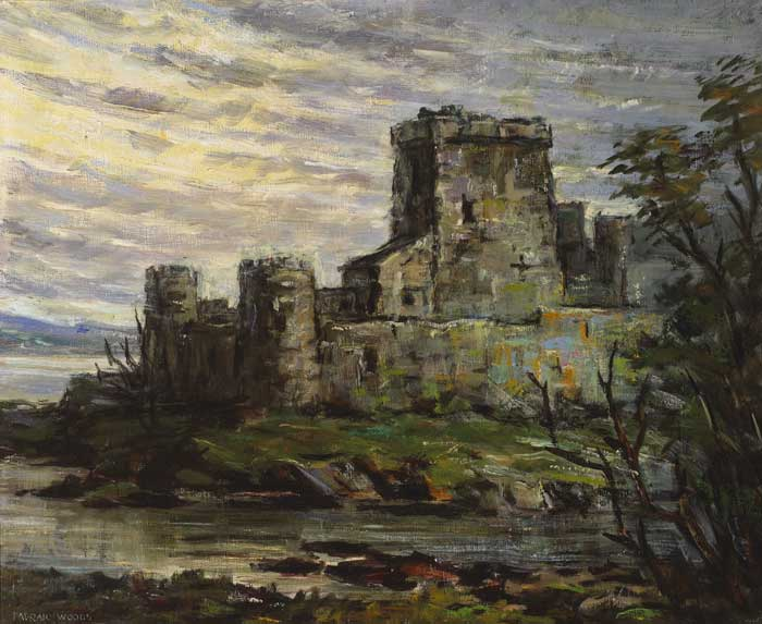 CASTLE IN A LANDSCAPE by Padraic Woods RUA (1893-1991) at Whyte's Auctions
