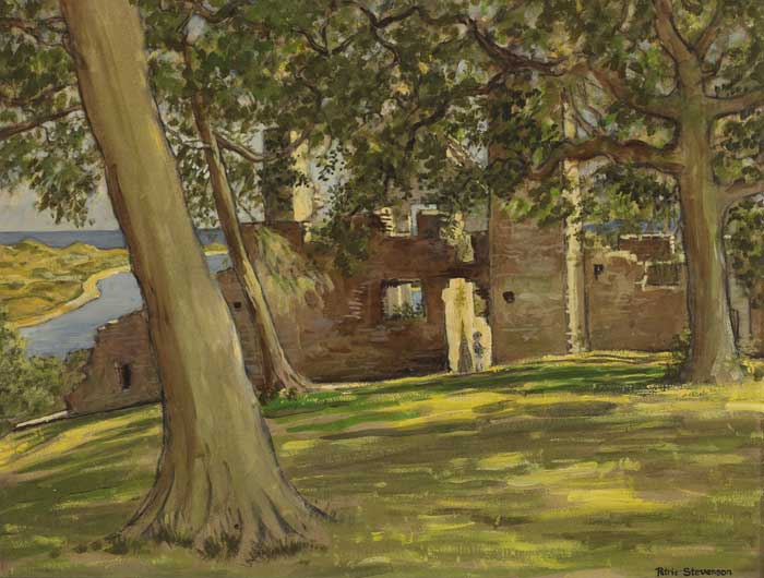 BLUNDELL RUINS, DUNDRUM CASTLE, COUNTY DOWN, c.1966 by Patric Stevenson RUA (1909-1983) at Whyte's Auctions