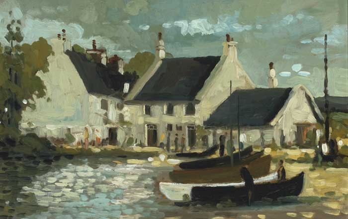 THE BOATHOUSE, 1996 by Alex McKenna  at Whyte's Auctions