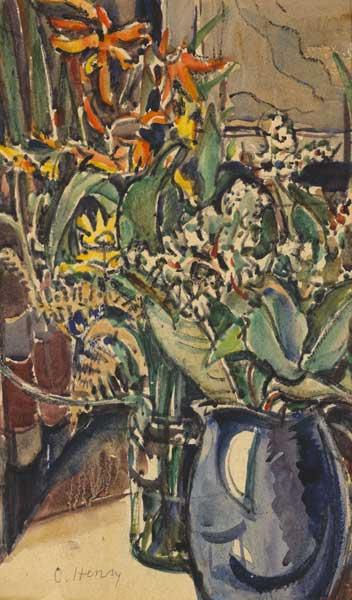 FLORAL STILL LIFE by Olive Henry RUA (1902-1989) RUA (1902-1989) at Whyte's Auctions