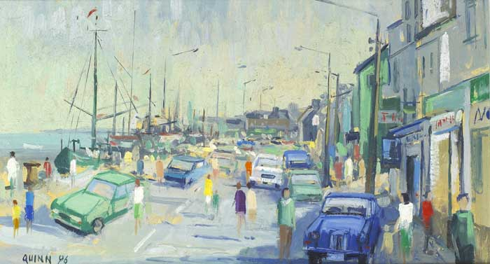 WEXFORD QUAY, 1996 by Brian Quinn sold for �140 at Whyte's Auctions