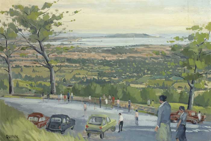 VIEW OF DUBLIN BAY by Brian Quinn sold for �120 at Whyte's Auctions