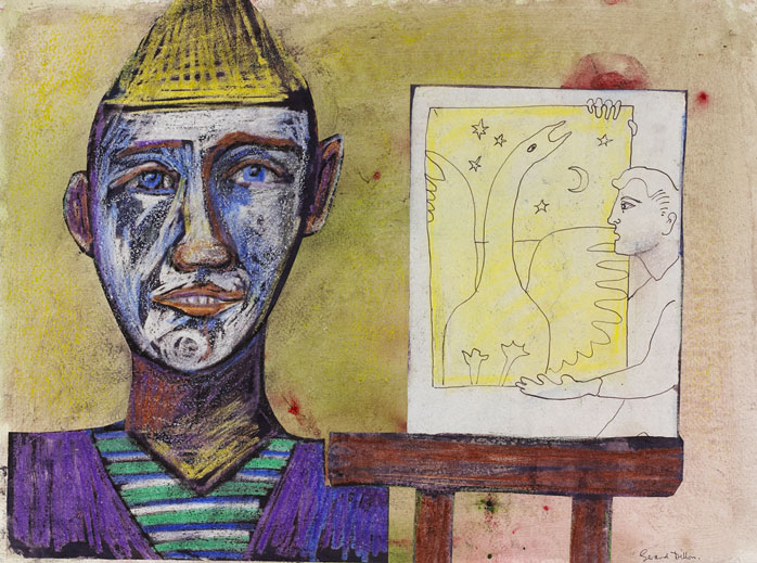 PIERROT AND EASEL by Gerard Dillon (1916-1971) at Whyte's Auctions