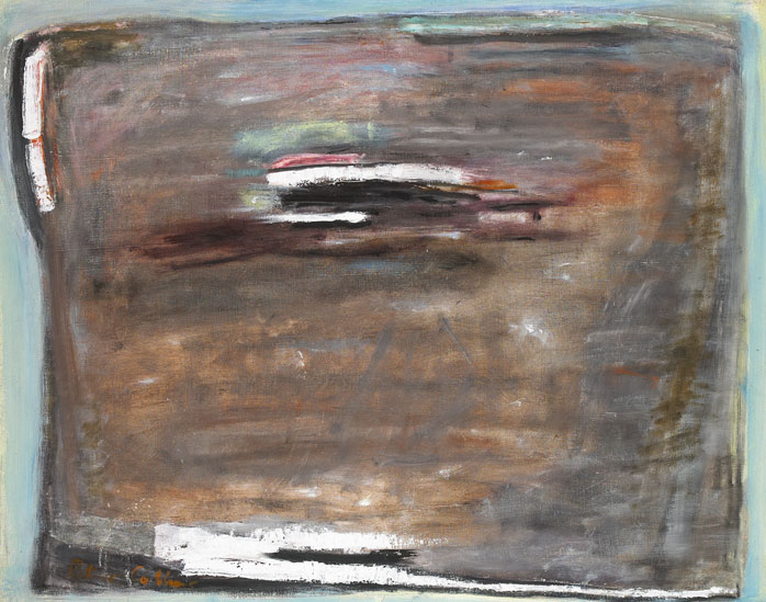 WATER ON A PLOUGHED FIELD, c.1976 by Patrick Collins HRHA (1910-1994) at Whyte's Auctions