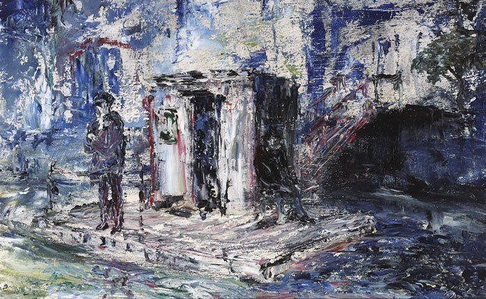 THE PONTOON, 1947 by Jack Butler Yeats sold for �49,000 at Whyte's Auctions
