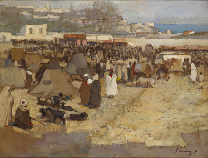 THE SOKO, TANGIER, 1891 by Sir John Lavery sold for �29,000 at Whyte's Auctions