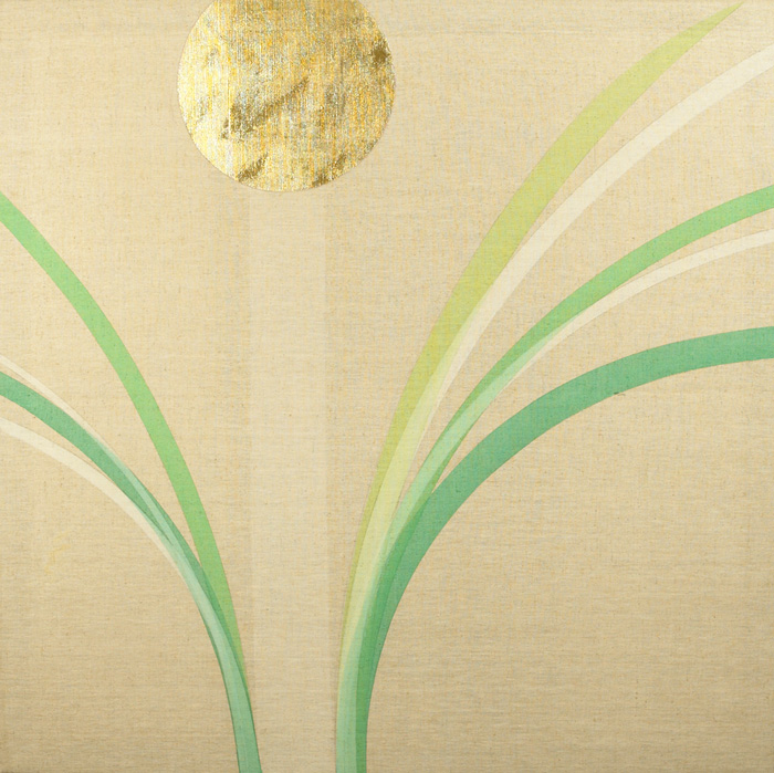 GOLD PAINTING WITH GOLD AND GREEN, c.1974 by Patrick Scott HRHA (b.1921) at Whyte's Auctions