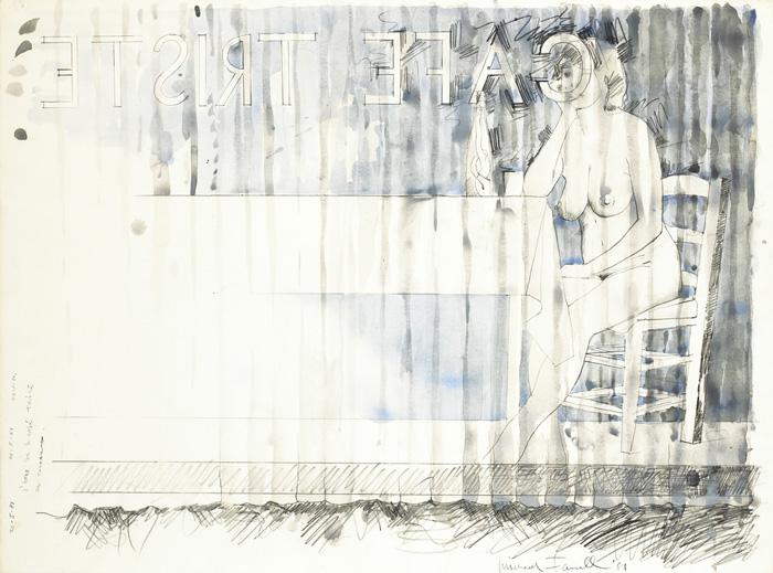 CAF� TRISTE, 1981 by Micheal Farrell (1940-2000) at Whyte's Auctions