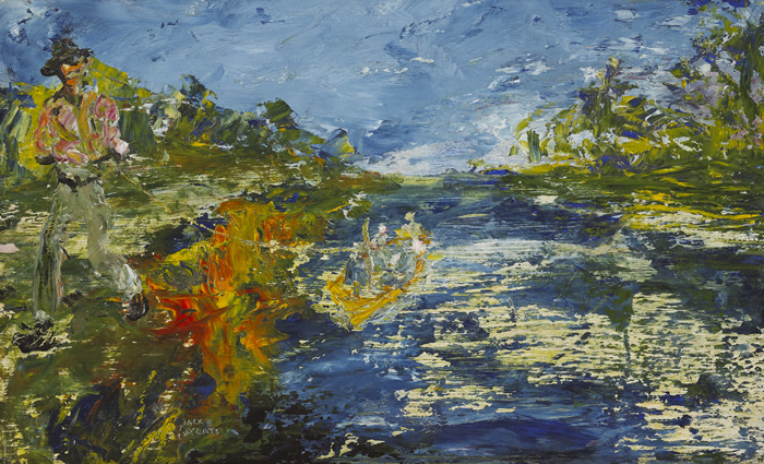 AGAINST THE STREAM, 1945 by Jack Butler Yeats sold for �53,000 at Whyte's Auctions