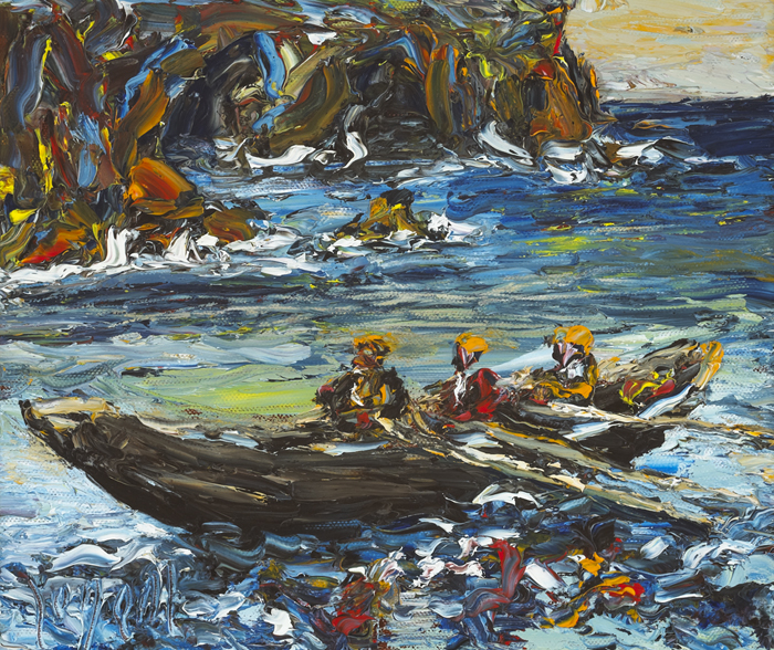 OFF BRANDON CREEK, COUNTY KERRY by Liam O'Neill (b.1954) at Whyte's Auctions