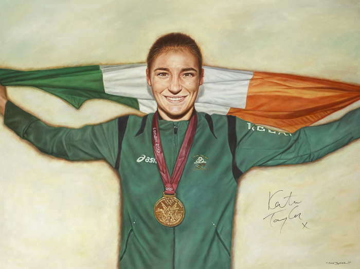 PORTRAIT OF KATIE TAYLOR, 2012 by Mark Baker (b.1986) at Whyte's Auctions