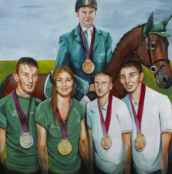 OLYMPICS MEDALISTS, 2012 by Tom Byrne (b.1962) at Whyte's Auctions