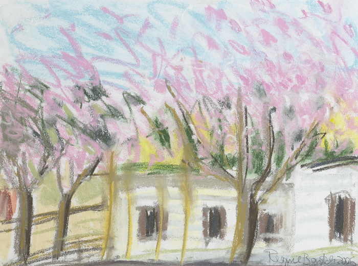 CHERRY BLOSSOM, CARAVAN PARK, 2005 by Regine Bartsch (b.1951) at Whyte's Auctions