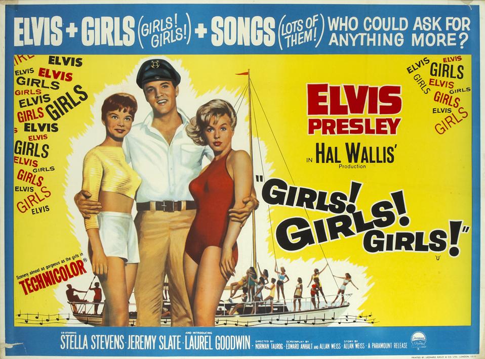 "1962 ELVIS PRESLEY in the MOVIES Photo /""GIRLS GIRLS GIRLS/"" Leaving The Set/"""