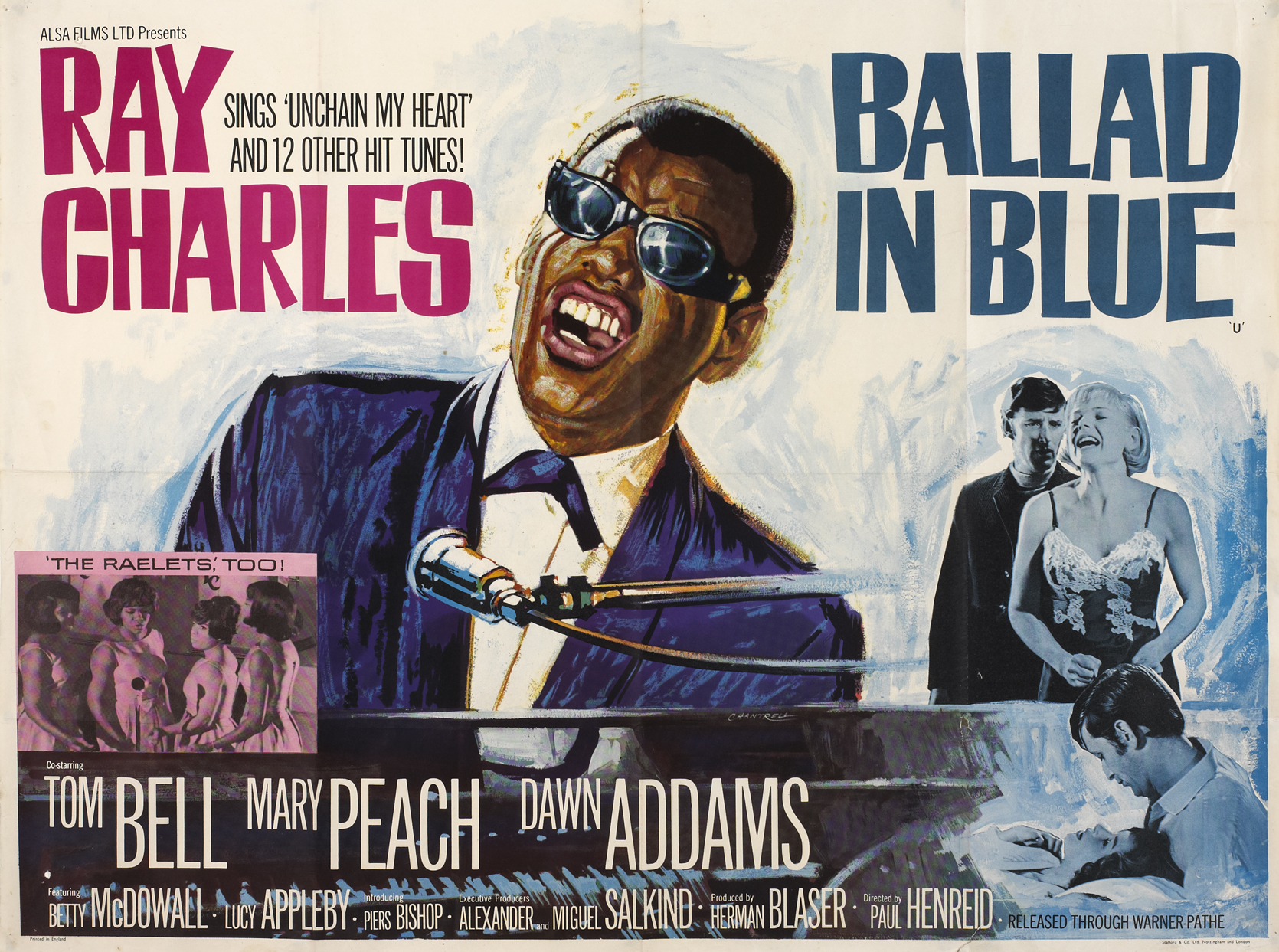 Music movie posters including Ray Charles Ballad In Blue at
