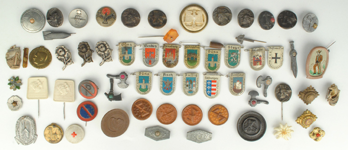1939-45: Collection of Nazi Germany pin badges or tinnies at Whyte's