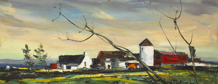 FARM IN THE MOURNES, COUNTY DOWN, 1963 by Kenneth Webb RWA FRSA RUA (b.1927) at Whyte's Auctions