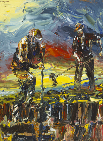 TURFCUTTERS by Liam O'Neill (b.1954) at Whyte's Auctions