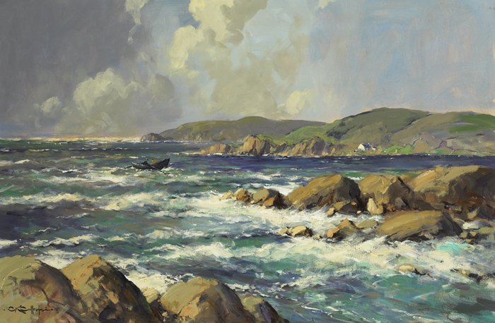 SEPTEMBER DAY, GALWAY COAST by George K. Gillespie RUA (1924-1995) at Whyte's Auctions