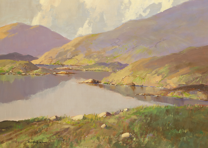 REFLECTIONS, NEAR LENANNE [SIC], COUNTY MAYO by George K. Gillespie RUA (1924-1995) at Whyte's Auctions
