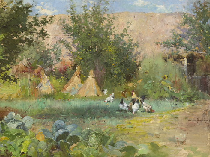 A CORNER OF THE FARMYARD, c.1886-1888 by Walter Frederick Osborne sold for �38,000 at Whyte's Auctions