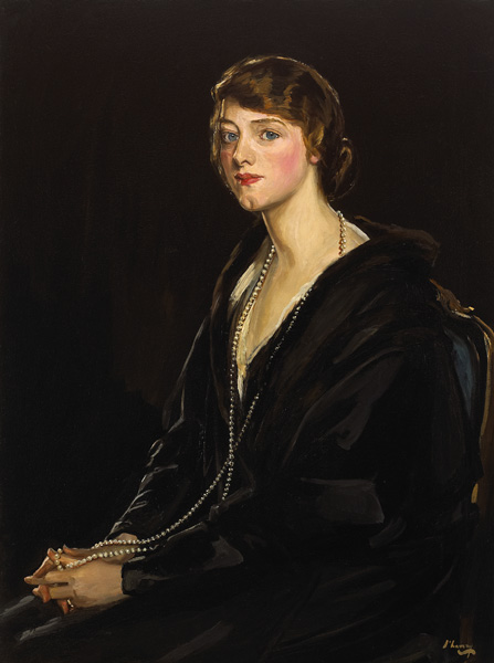 PORTRAIT OF MRS E. BOWEN-DAVIES, 1923 by Sir John Lavery sold for �29,000 at Whyte's Auctions