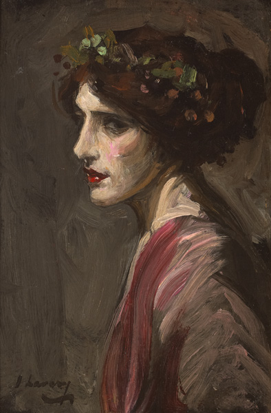 PORTRAIT OF A LADY THOUGHT TO BE MRS RALPH PETO by Sir John Lavery sold for �26,000 at Whyte's Auctions