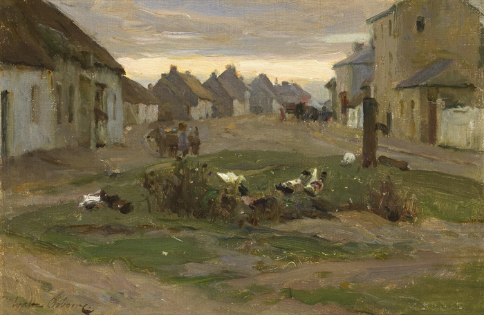 THE VILLAGE STREET, RUSH & LUSK, COUNTY DUBLIN, c.1898 by Walter Frederick Osborne sold for �28,000 at Whyte's Auctions