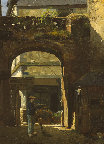 SUNSHINE AND SHADOW, [LA RUE DE L'APPORT], DINAN, 1883 by Walter Frederick Osborne sold for �69,000 at Whyte's Auctions