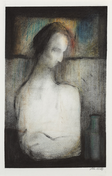 FIGURE IN INTERIOR and NUDE IN INTERIOR (A PAIR) by John Kelly sold for �800 at Whyte's Auctions