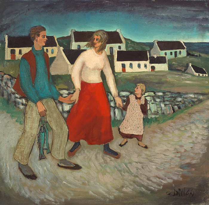 HOME WITH THE CATCH by Gerard Dillon (1916-1971) (1916-1971) at Whyte's Auctions