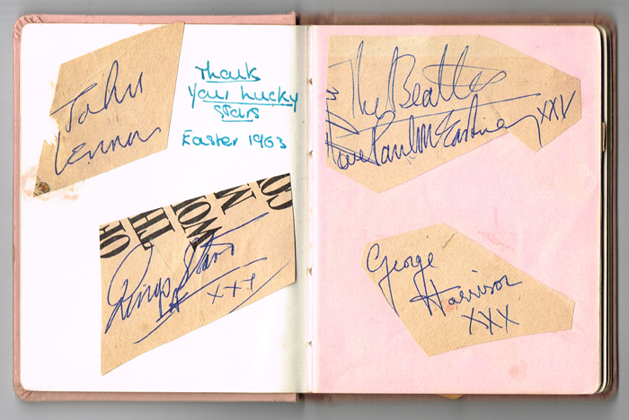The Beatles autographs, 1963 television appearance. at Whyte's Auctions