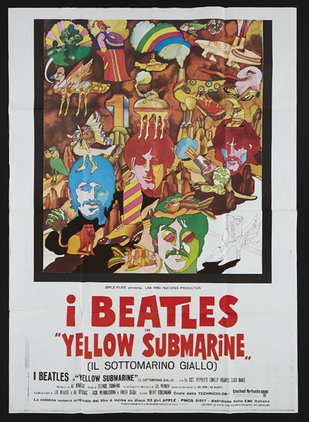 The Beatles Yellow Submarine 1968 film - Spanish film poster and other items. at Whyte's Auctions