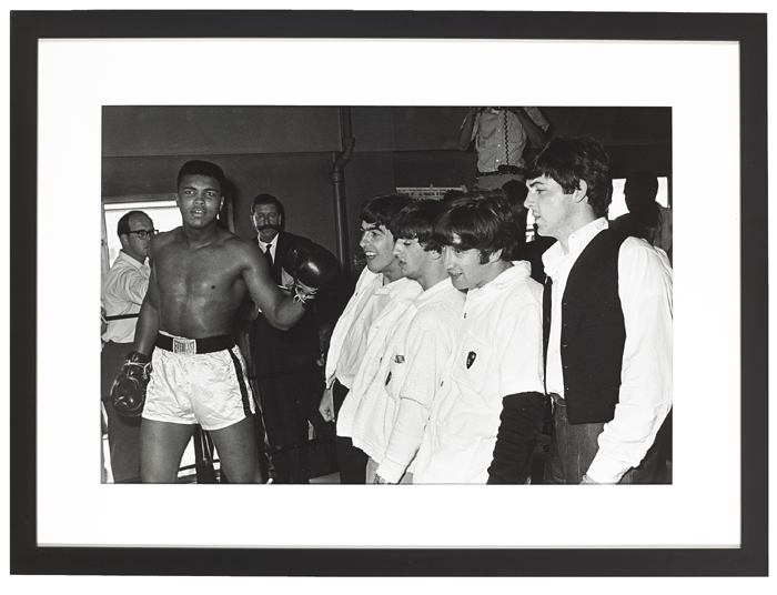 Photograph of Mohamed Ali and the Beatles at Whyte's Auctions