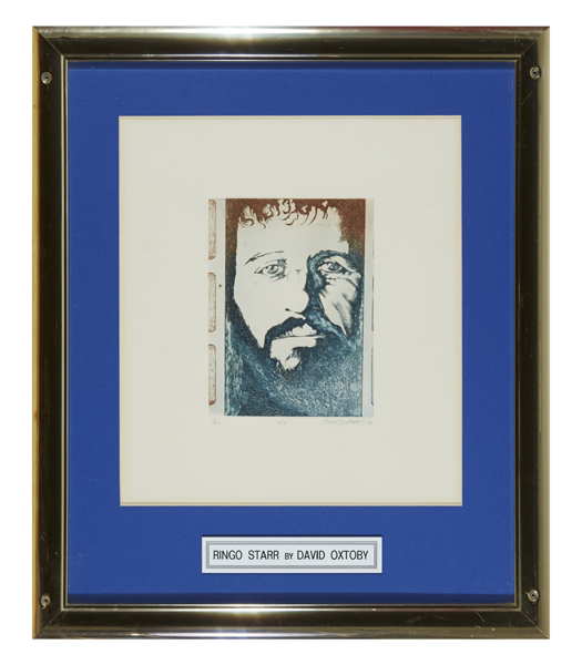 Ringo Starr portrait 1974 by David Oxtoby (b. 1938) at Whyte's Auctions