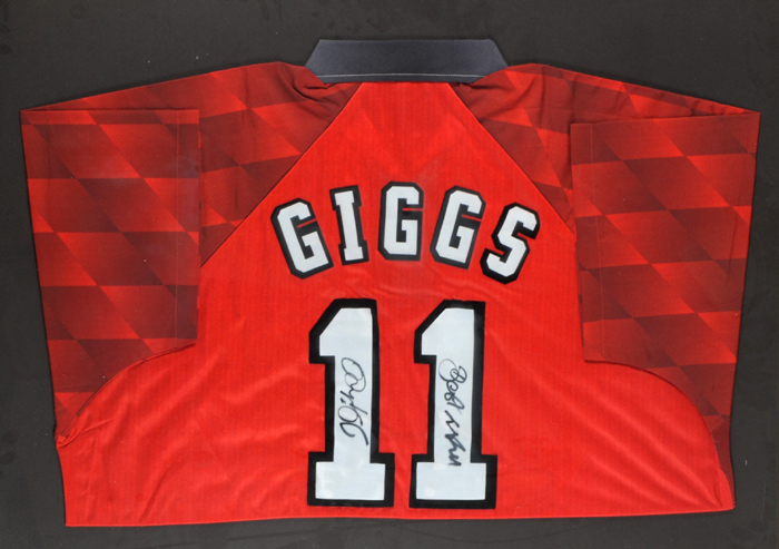 official photos 25303 4c8ed Ryan Giggs & George Best. at Whyte's Auctions | Whyte's ...