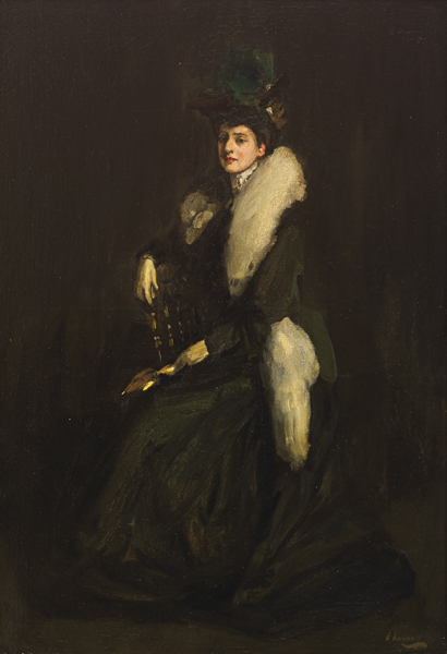 LADY IN GREEN (MRS. CARA H.), 1903 by Sir John Lavery sold for �30,000 at Whyte's Auctions