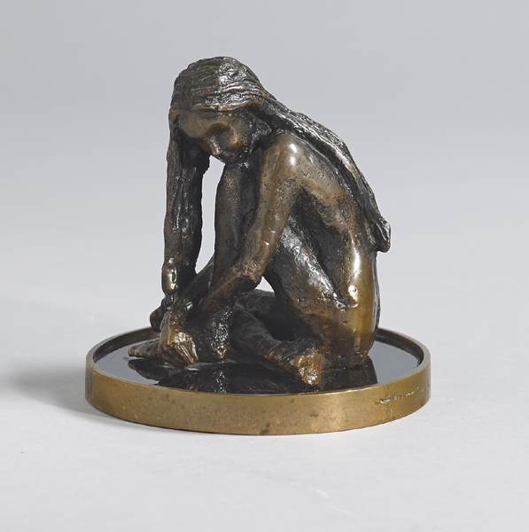 SEATED GIRL, 1982 by Rowan Gillespie sold for �2,400 at Whyte's Auctions