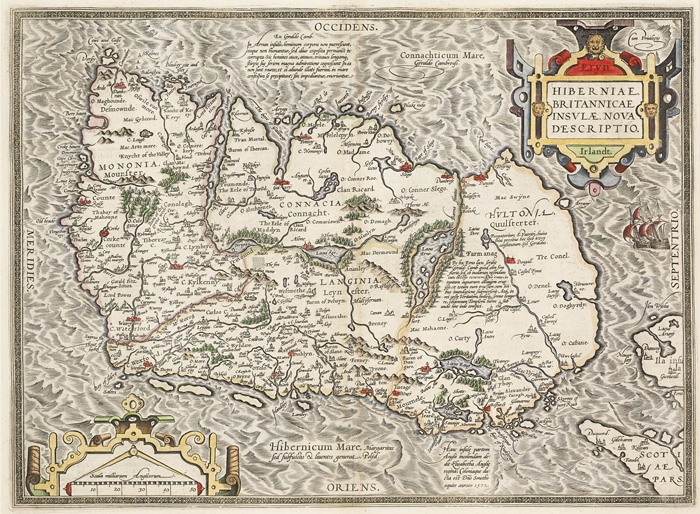 17th Century Map. Ortelius, Abraham. Eryn at Whyte's Auctions