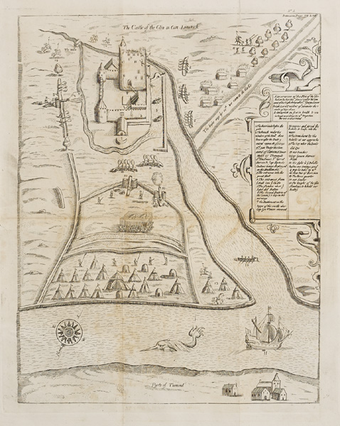 17th Century, Stafford's Pacata Hibernia, maps of Glin and Askeaton Castle. at Whyte's Auctions