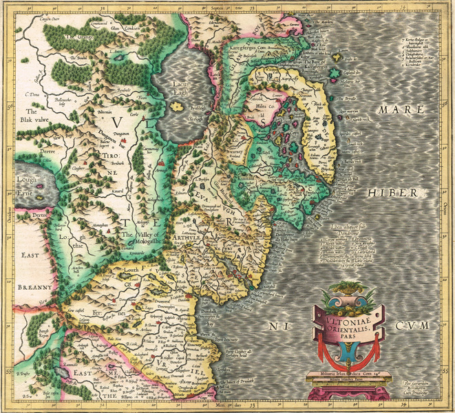 17th Century Maps. Mercator, Gerhard. Ultoniae Orientalis Pars at Whyte's Auctions