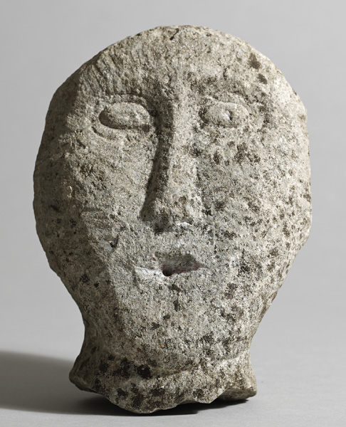 Circa 500BC to 500AD Iron Age. Irish stone head. at Whyte's Auctions