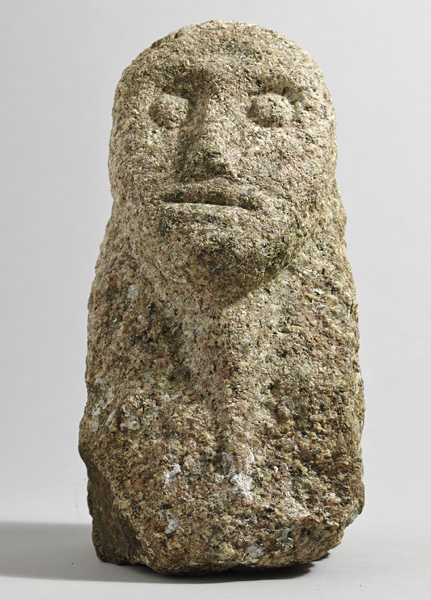 500BC to 500AD Iron Age. Irish stone head. at Whyte's Auctions