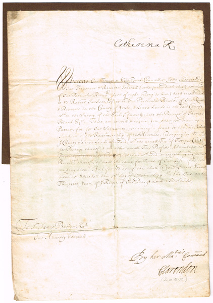 Catherine of Braganza (1638 - 1705) autograph signed letter at Whyte's Auctions