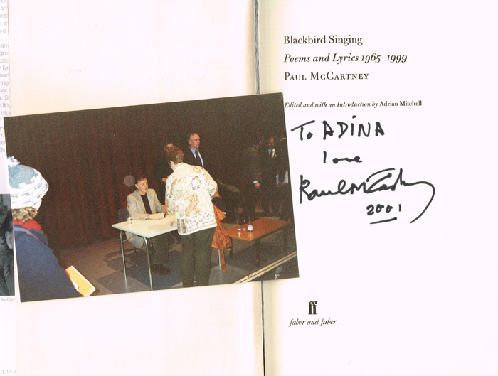 Paul McCartney, Blackbird Singing: Songs and Lyrics 1965-1999. Signed. at Whyte's Auctions