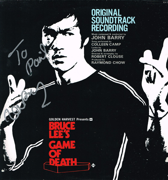 Game of Death, John Barry, signed album at Whyte's Auctions