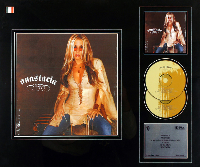 Anastacia, Double Platinum Award. at Whyte's Auctions