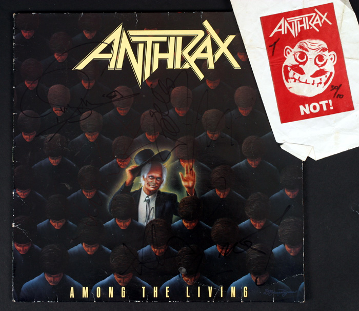 Anthrax, Among the Living, signed album at Whyte's Auctions